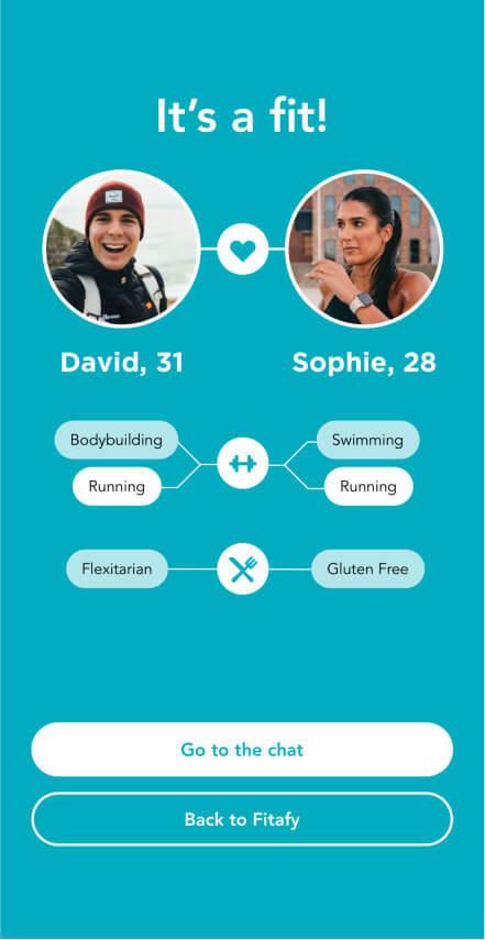 Fitafy App - Match Screenshot